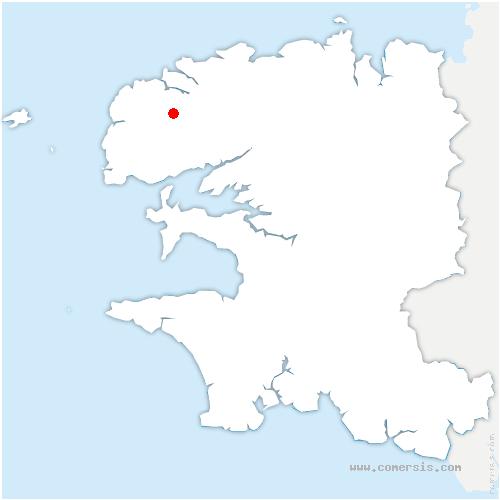 carte de localisation de Milizac-Guipronvel