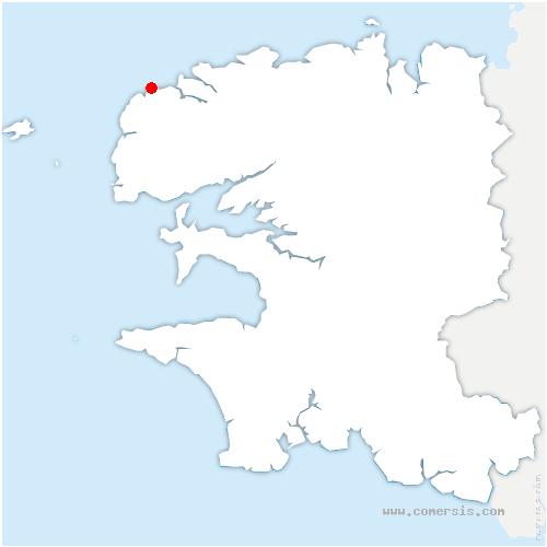 carte de localisation de Ploudalmézeau