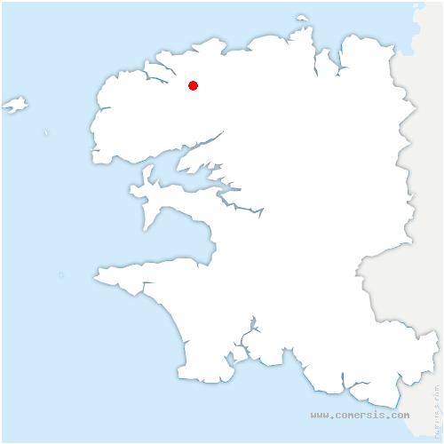 carte de localisation de Plouvien