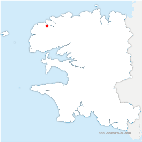 carte de localisation de Saint-Pabu