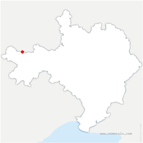 carte de localisation de Val-d'Aigoual
