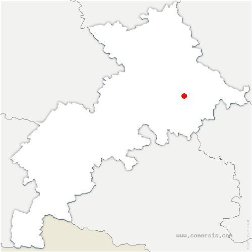 carte de localisation de Ayguesvives