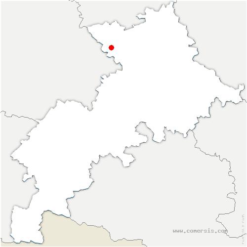 carte de localisation de Bellegarde-Sainte-Marie