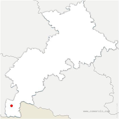 carte de localisation de Benque-Dessous-et-Dessus