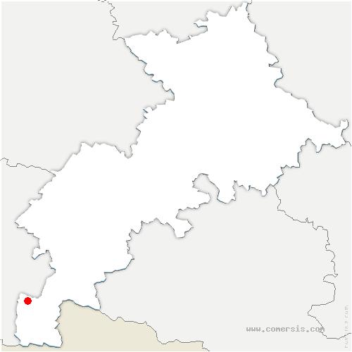 carte de localisation de Bourg-d'Oueil