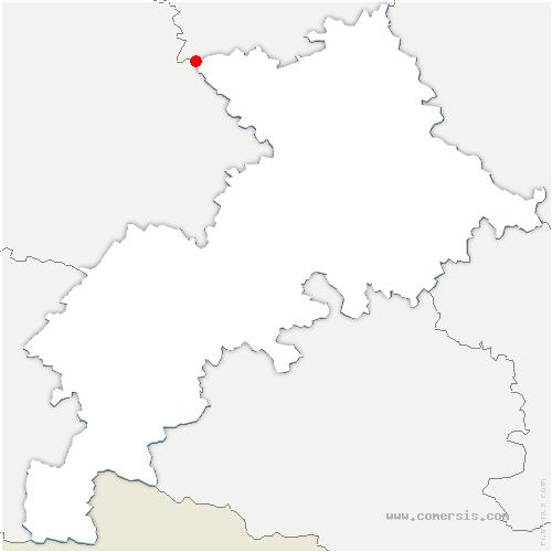 carte de localisation de Brignemont