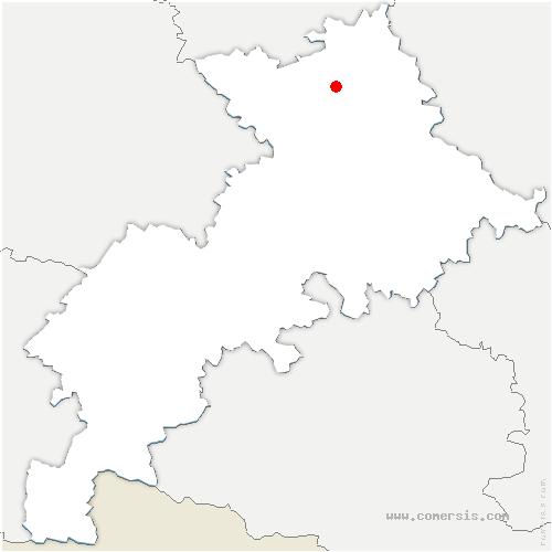 carte de localisation de Bruguières