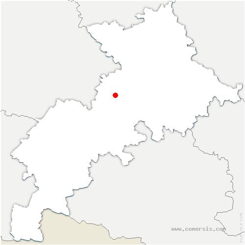 carte de localisation de Cambernard