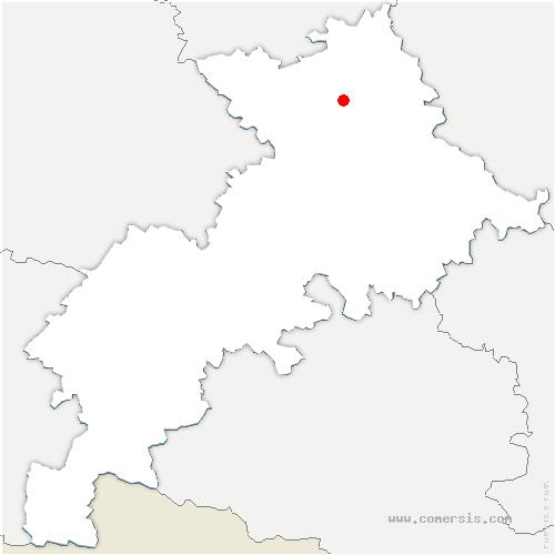 carte de localisation de Castelginest