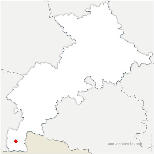 carte de localisation de Castillon-de-Larboust