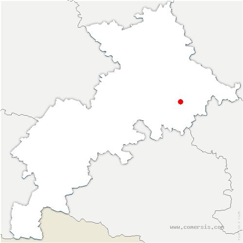 carte de localisation de Caubous