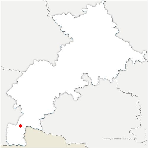 carte de localisation de Cier-de-Luchon