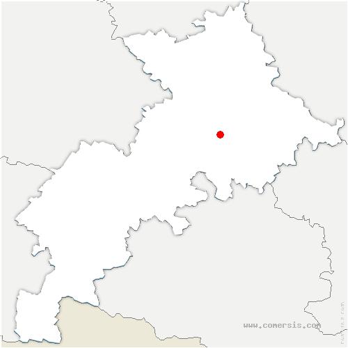 carte de localisation de Clermont-le-Fort