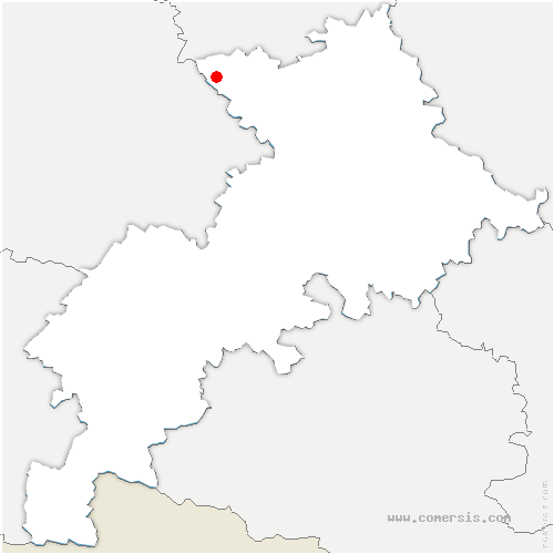 carte de localisation de Cox
