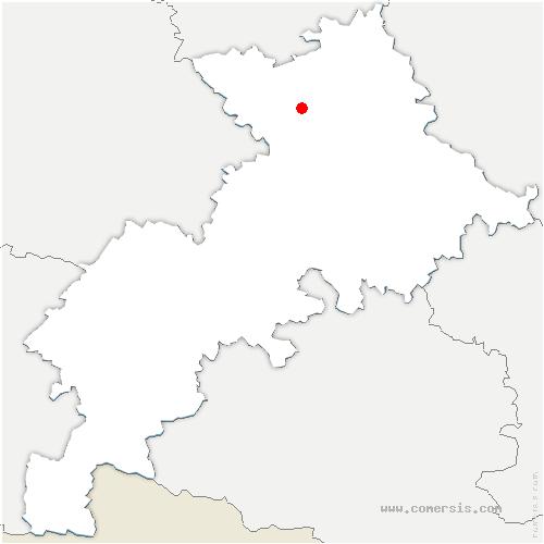 carte de localisation de Daux