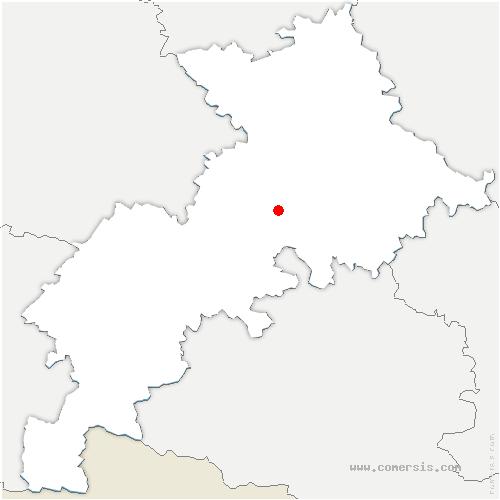 carte de localisation de Fauga