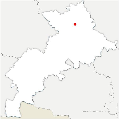 carte de localisation de Fonbeauzard