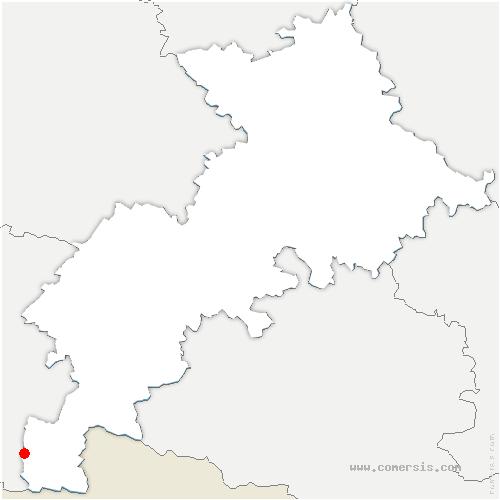 carte de localisation de Gouaux-de-Larboust