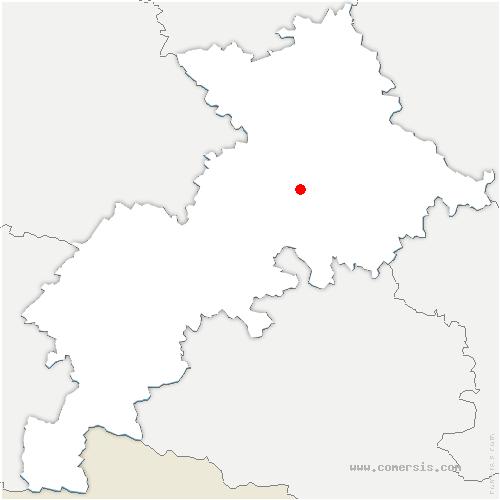 carte de localisation de Labarthe-sur-Lèze