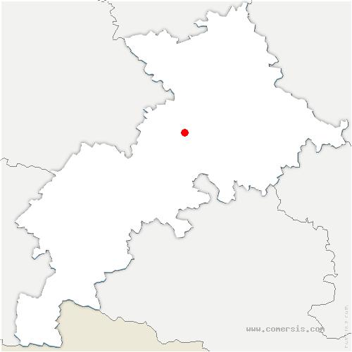 carte de localisation de Labastidette