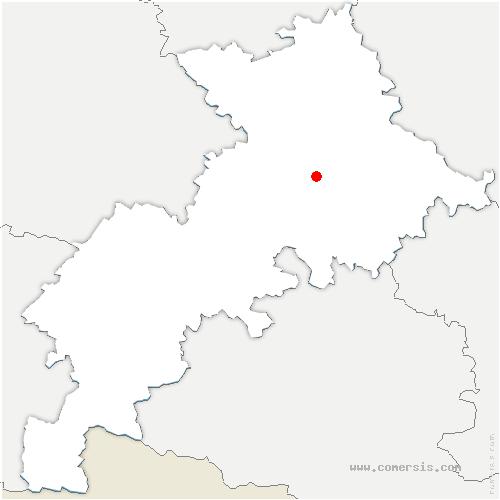 carte de localisation de Lacroix-Falgarde