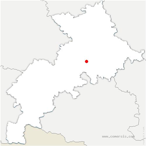 carte de localisation de Lagardelle-sur-Lèze