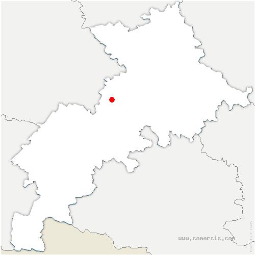 carte de localisation de Lahage