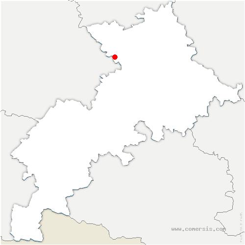 carte de localisation de Lasserre-Pradère