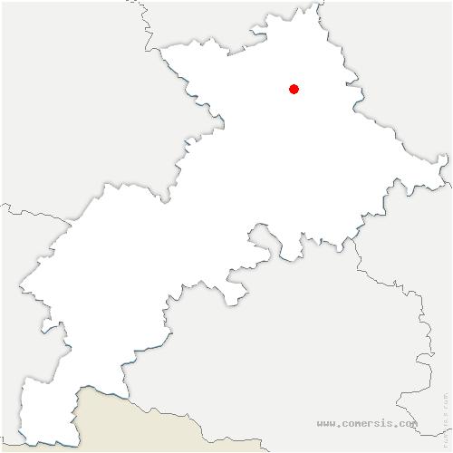 carte de localisation de Launaguet