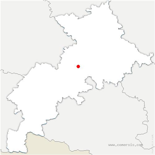 carte de localisation de Lavernose-Lacasse