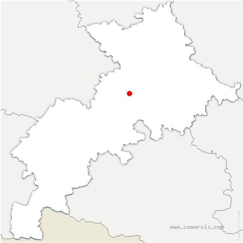 carte de localisation de Lherm