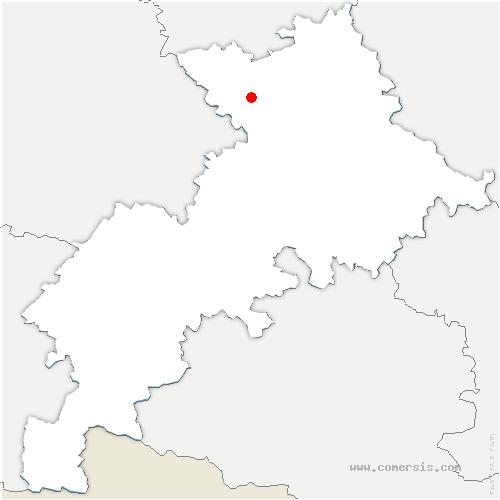 carte de localisation de Menville