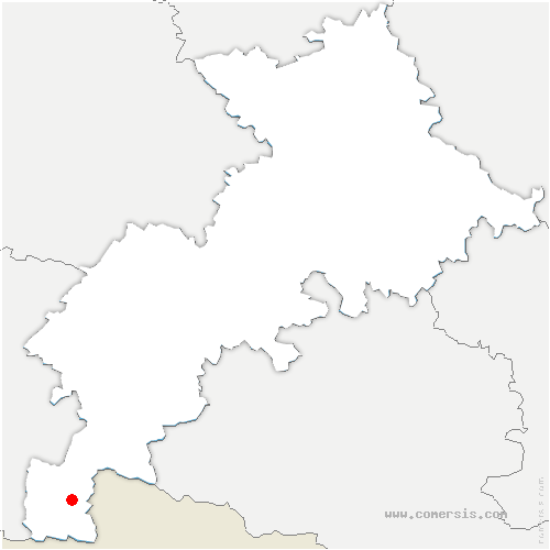 carte de localisation de Montauban-de-Luchon