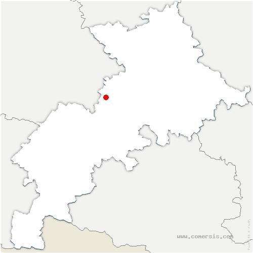carte de localisation de Montgras