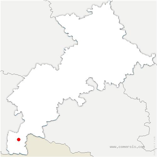 carte de localisation de Moustajon