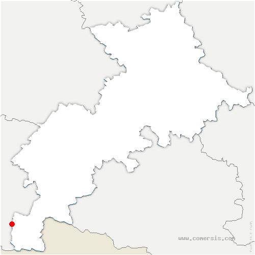 carte de localisation de Portet-de-Luchon