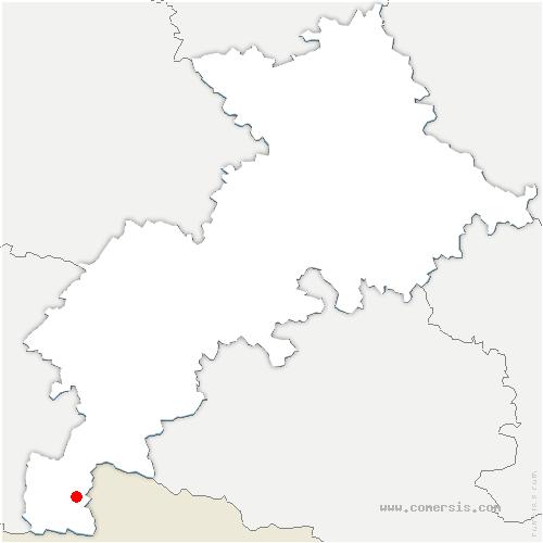 carte de localisation de Saint-Mamet