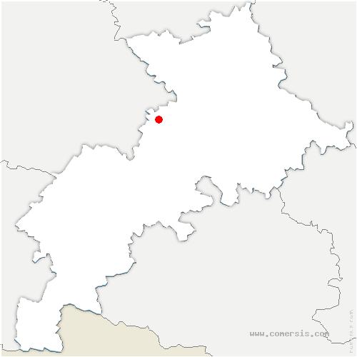 carte de localisation de Sainte-Foy-de-Peyrolières