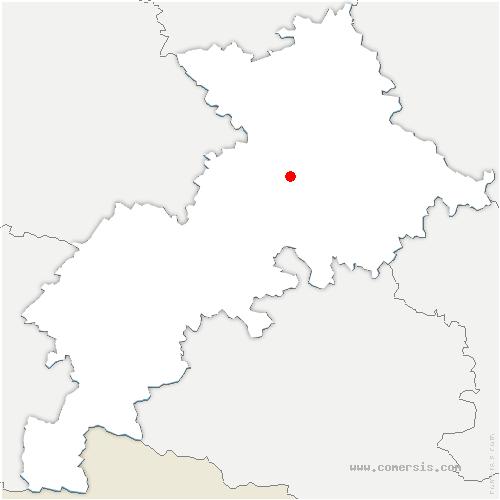carte de localisation de Saubens