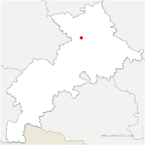 carte de localisation de Vernet