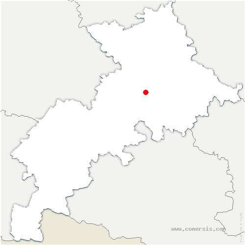 carte de localisation de Villate