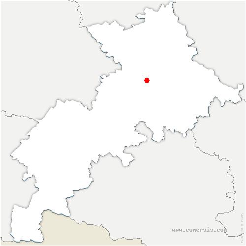 carte de localisation de Villeneuve-Tolosane