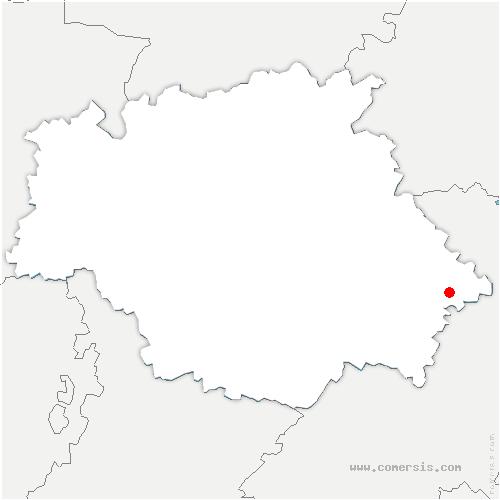 carte de localisation de Auradé