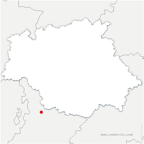carte de localisation de Beaupuy