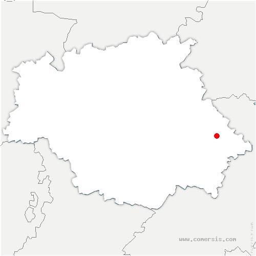carte de localisation de Clermont-Savès