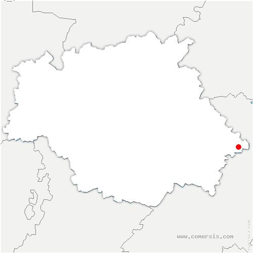 carte de localisation de Isle-Jourdain
