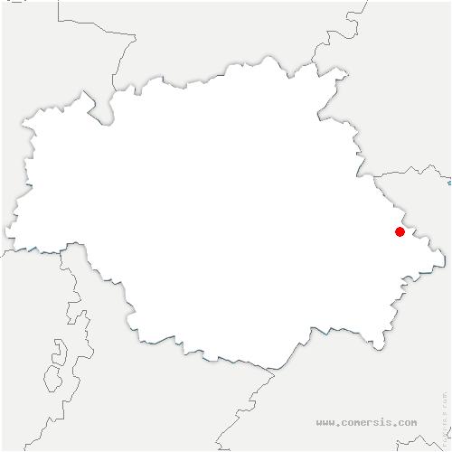 carte de localisation de Monbrun