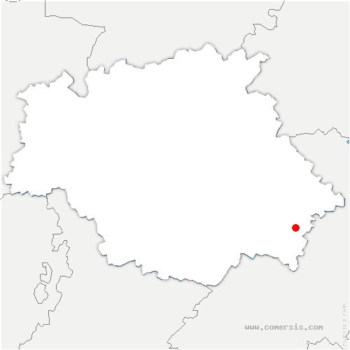 carte de localisation de Nizas