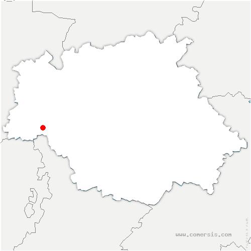 carte de localisation de Riscle