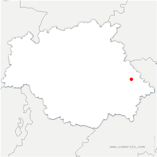 carte de localisation de Roquelaure-Saint-Aubin